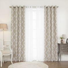 aurora home mix u0026 match curtains morroccan room darkening and lace 84 96 inch - 96 Inch Curtains