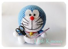 Amigurumi Doraemon Free Pattern : Laying down doraemon free amigurumi pattern by #elinmakes this is