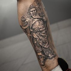 Chinese Warrior Tattoo