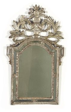 A Continental Silvered-Wood Mirror, Second Half 18th Century