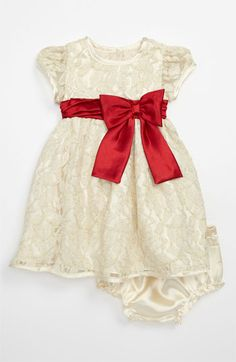 Sweet Heart Rose Lace Dress & Bloomers (Infant) | Nordstrom- praying Anna's belly fits into a 24 months because I adore this!