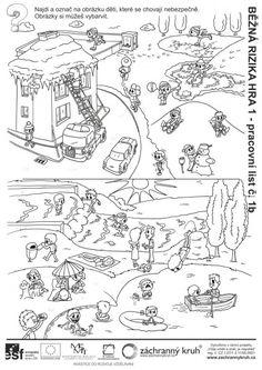 Běžná rizika - Kdo se chová špatně?, Záchranný kruh Indoor Activities For Kids, School, Sporty, Indoor Kid Activities