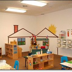 Roofing Tiles Home tin roofing bungalow. Preschool Rooms, Preschool Centers, Learning Centers, Classroom Activities, Preschool Classroom Layout, Classroom Setting, Classroom Design, Classroom Decor, Classroom Organization