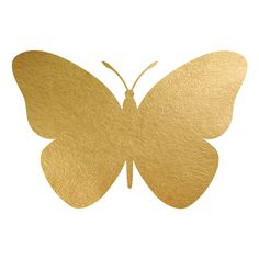 Butterfly Gold Foil Painting Print