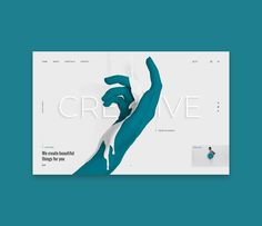 Web-design concept for creative agency on Behance