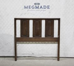 2212-01896 #Customizable MCM Twin #Headboard by #MegMade,  View more on the LINK: http://www.zeppy.io/product/gb/3/272869754/