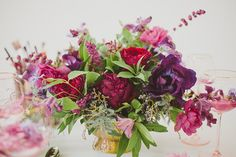 Purple bohemian flowers | Wedding & Party Ideas | 100 Layer Cake