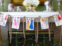 Dress Pattern Garland Banner Bunting Retro Style by SewMaryjane, $20.00
