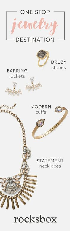 Unlimited Jewelry for $19/mo? Yes, Please! Rent 3 pieces of jewelry at a time, discover new jewelry styles, trends and designers, and buy only the pieces that you love. Join now!