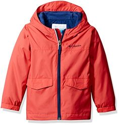 Columbia Kids Rain-Zilla Jacket (Little Kids/Big Kids) (Sunset Red/Carbon) Boy's Coat Baby Clothes Sizes, Columbia Kids, Street Style 2017, Columbia Jacket, All About Fashion, Big Boys, Toddler Boys, Hooded Jacket