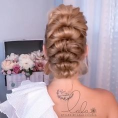 You can never go wrong with a mohawk By @lalasupdos Bun Hairstyles For Long Hair, Elegant Hairstyles, Pretty Hairstyles, Braided Hairstyles, Hair Up Styles, Medium Hair Styles, Hair Videos, Hair Looks, Hair Inspiration