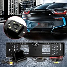 "NEW 4.3"" Car Monitor Rear View Digital Camera Wireless Night Vision Frame Sensor"