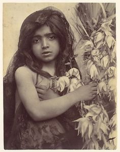 [Young Girl with Flowers, Sicily, Italy] Wilhelm von Gloeden (Italian, born Germany, 1886–1931)