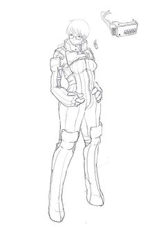 Yionguon's Sketch works SF suit girl.