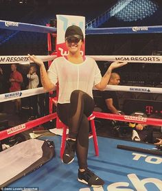 She's got punch! Demi Lovato wasn't hiding her nerves before singing the national anthem at Saturday's Mayweather-McGregor boxing match. The 25-year-old singer called the Vegas hosted match 'the biggest fight of the generation'