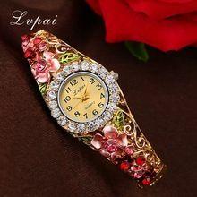 Lvpai Marca Mulheres Relógios Flor Do Vintage Relógio de Quartzo Relógio de Pulso Feminino Pulseira de Moda Casual de Luxo Eletrônico Barato(China (Mainland))