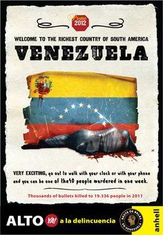Aviso Turístico de la Venezuela del 2012.