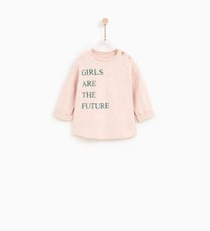 TEXT T-SHIRT-SHIRTS AND T-SHIRTS-BABY GIRL | 3 months - 4 years-KIDS | ZARA United States