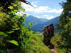 Blick über das Hintersteiner Tal Richtung Schrecksee und Giebelhaus