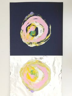 Tinfoil Monoprints — ART CAMP Tinfoil monoprints inspired by Wassily Kandinsky, and Peter Reynold's picture book, The Dot Wassily Kandinsky, Club D'art, Classe D'art, Atelier D Art, School Art Projects, Clay Projects, Simple Art Projects, Art Club Projects, Family Art Projects