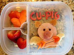Cupid pig valentine lunch