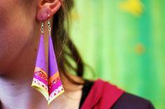 Paper earrings II at IMWe 2014