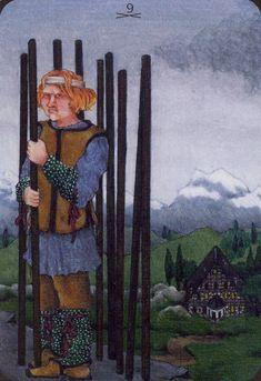 Nine of Wands - Anna.K Tarot by Anna Klaffinger