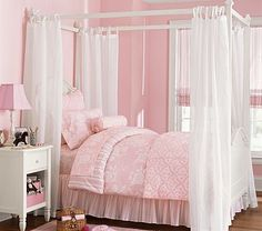 My girls would feel like little princesses in a room l like this!