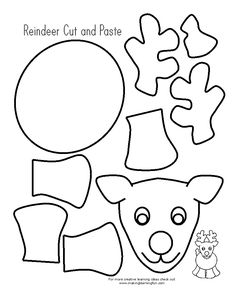 1000 images about christmas on pinterest christmas for Reindeer cut out template
