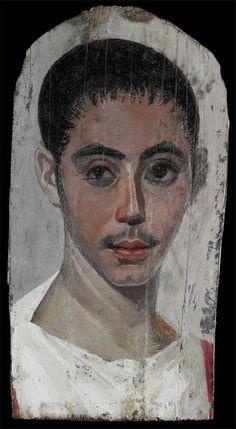 "Retrato romano de El Fayun ""The Fayum Portraits""  Roman Art More Pins Like This At FOSTERGINGER @ Pinterest"
