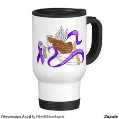Fibromyalgia Angel 15 Oz Stainless Steel Travel Mug