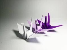 1000 Origami Cranes Origami Paper Cranes Purple Tone Origami Crane for Wedding decor , Anniversary Gift ,Valentines ,backdrop Origami Cranes, Origami Paper Crane, Diy Origami, 1000 Paper Cranes, Wedding Messages, Japanese Wedding, Origami Instructions, Paper Design, Paper Goods