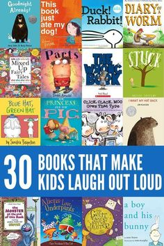of the Funniest Picture Books for Kids A collection of some of the funniest ever books for kids. These will have your child laughing out loud!A collection of some of the funniest ever books for kids. These will have your child laughing out loud! Funny Books For Kids, Great Books, Funny Kids, Funny Children's Books, Story Books For Kids, English Books For Kids, Funny Work, Funny Stuff, Preschool Books