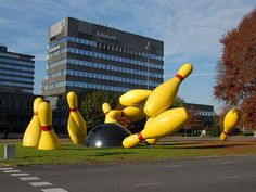 Large Flying Bowling Pins, Eindhoven, Netherlands