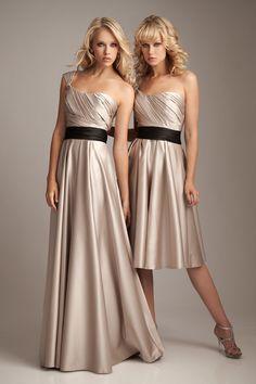 Robes demoiselles d'honneur champagne bustier coeur plissé