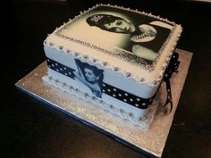 Audrey Hepburn printed icing sheets, worked really well.