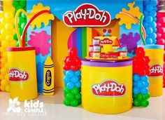 Party with theme of Play doh Third Birthday, 4th Birthday Parties, Birthday Ideas, Play Doo, Fun Party Themes, Party Ideas, Play Doh Party, Noah, Festa Party