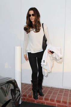 Kate Beckinsale Photos - The beautiful Kate Beckinsale sports a short white pea coat while shopping at Fred Segal in Los Angeles.  Kate is the January 2012 REDBOOK cover girl set to hit newsstands on December 20th. - Kate Beckinsale Shops at Fred Segal