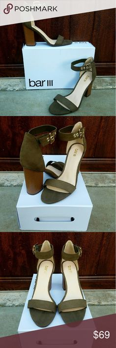 """Chic Block Heel Sandals by Bar III Add a touch of style & chic modernity to your look with these block heel sandals by Bar III. New with box. Heel measures 3.5"""". Bar III Shoes Heels"""