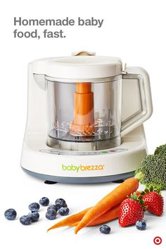 Homemade baby food in minutes? Yes, please! The Baby Brezza One Step Food Maker automatically blends food after steaming for delicious baby food, fast. Steam and blend fruits, vegetables, meats and fish all in one bowl for healthful, delicious meals ready for your little one in under 15 minutes. Easy.