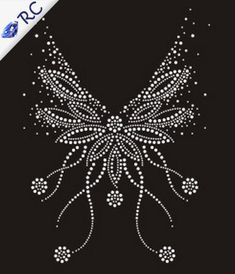 Best 11 White-Neckline-font-b-Pattern-b-font-Rhinestone-Iron-On-Transfers-font-b-Crystal-b-font. Bead Embroidery Patterns, Hand Embroidery Designs, Beaded Embroidery, Beading Patterns, Embroidery Stitches, Dot Art Painting, Fabric Painting, Bling Wallpaper, Motifs Perler