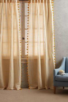 Pompom tassel curtains for bedroom