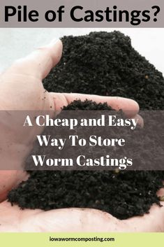 Do you have a pile of worm castings that you can't use right away? Worm castings require special care to protect the living biology. We will show you a cheap and easy way to store worm castings for the long-term. Composting At Home, Worm Composting, Composting Methods, Earthworm Farm, Red Wigglers, Worm Castings, Red Worms, Organic Gardening Tips, Indoor Gardening