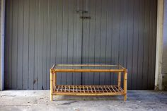 #Large #Cane and #Glass #coffeeTable #placesandgraces #collection