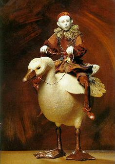 "Riding a Goose, Marlaine Verhelst.  In the collection ""Dear Little Dollies"""