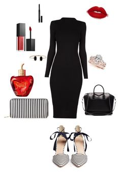 """Little Black dress goes a long way!!!"" by gina-tapia on Polyvore featuring J.Crew, New Look, Smashbox, Lolita Lempicka, Christian Dior, Lulu*s and Givenchy"
