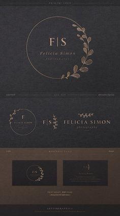Logo Design, Branding kit, Geometric Logo, Minimalist Logo, … – Beauty & Seem Beautiful Logo Inspiration, Cosmetic Logo, Boutique Logo, Blog Logo, Logo Fotografie, Logo Photographe, Rundes Logo, Logo Rond, Typographie Logo
