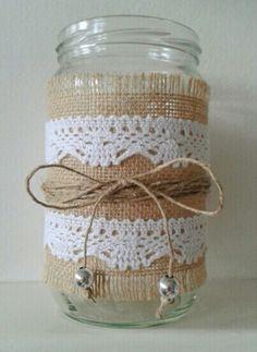 Diy mason jars vase