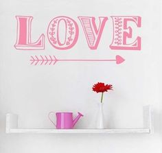 Muursticker Love valentijn  - Stickythings.nl  #kinderkamer