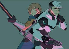 Shiro the Black Paladin and Matt Holt fighting together as a team from Voltron Legendary Defender Shiro Voltron, Form Voltron, Voltron Ships, Voltron Klance, Matt Holt Voltron, Voltron Paladins, Voltron Force, Log Horizon, Power Rangers